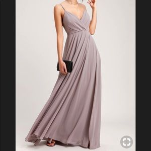 Lulus all about love taupe dress